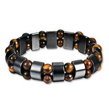 Black Magnetic Bracelet Hematite Stone Therapy Health Care Weight Loss Jewelry A