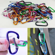New 5Pcs Aluminum Snap Hook Carabiner D-Ring Key Chain Clip Keychain Hiking Camp