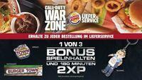 Call of Duty:Warzone BURGERTOWN ITEM+180min DOUBLEXP Code Burgerking  Lieferando
