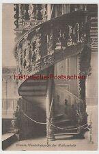 (80322) AK Bremen, Wendeltreppe in der Rathaushalle, 1914