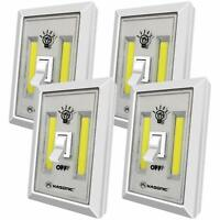 Portable 200 Lumen COB Cordless Ultra Bright LED Night Light Switch Set of 4