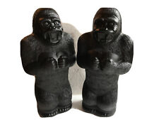 "Blow Mold Plastic King Kong Gorilla Bank Union Products 17"" Renzi Mold New PAIR"
