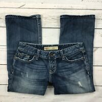 BKE Star Cropped Jeans Size 27 Womens Distressed Capris BKL1946 Straight Leg