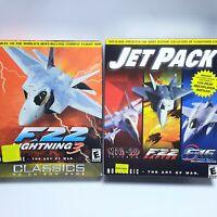 F-22 LIGHTNING 3 PC BIG BOX + JETPACK PC BIG BOX  LOT NOVA LOGIC 2001