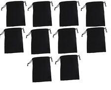 10x Black Velvet Drawstring Jewelry Storage Safety Case Gift Bags Pouches