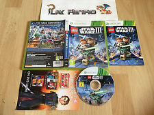 XBOX 360 LEGO STAR WARS III 3 THE CLONE WARS PAL UK COMPLETO