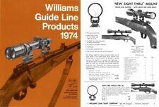 Williams 1974 Gun Sights Catalog
