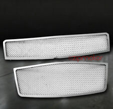 09-11 CHEVY AVEO5 HATCHBACK UPPER+BUMPER STAINLESS STEEL MESH GRILLE CHROME 2PCS