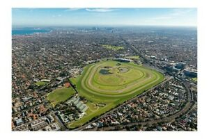 CAULFIELD town and racetrack c2010 aerial modern digital Photo Postcard