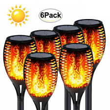 Solar Garden Flame Light Flickering 12LED Torch Lamp Outdoor Waterproof 1-8 Pack