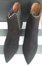c41c0ff338 women's aquazzura kitten heel black suede booties size 38