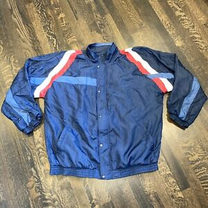 Vtg 80s PIERRE CARDIN Windbreaker Track Jacket Nylon Colorblock MENS 2XL TALL