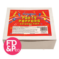 x72 Party Poppers Mixed Colours Birthday Partyware New Years Birthday Party