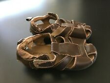 BABY GAP TODDLER BOYS SIZE 5/6 BROWN STRAPPY SANDALS SHOES SUMMER