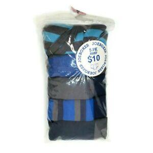 Joe Boxer Boys 5 Pack Briefs 100% Cotton Medium Size M 8 Blue, Grey, Striped