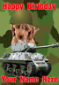 Cockapoo Dog j38 Military Army Tank Fun Cute A5 Personalised Birthday card
