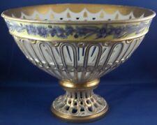 Antique Porcelain Vieux Old Paris Reticulated Basket Porcelaine de Porzellan