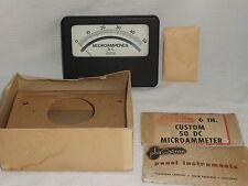 "Phaostron 0-50 DC Microamperes 6"" Panel Meter Gauge Vintage Great Condition"