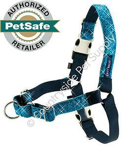 PetSafe Bling EasyWalk Harness 4 Sizes (Sm-Lg) 3 Colors Blue, Purple, Silver