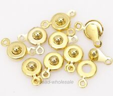 30Set Snap Fastener Clasp Hooks Connectors For Bracelet Necklace Making 15x8mm !