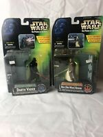Star Wars POTF Darth Vader vs Obi-Wan Kenobi Kenner Action Figures SEALED MIB