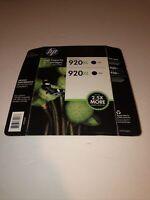 Genuine HP 920XL Black 2 pack Ink Cartridges exp 5/2020 new sealed