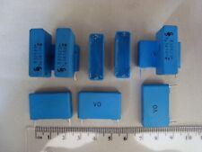 nos 4x vintage papel-condensador siemens Halske tipo b13040 0.01 µf//250 V-