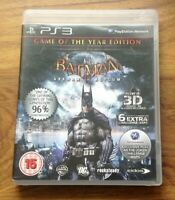 Batman Arkham Asylum Game of the Year Edition PS3 .Free UK Postage