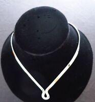 SALE-925 Sterling Silver Jewelry 5mm Wide Drop-U Choker/Collar/Necklace/Wire