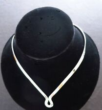 925 Sterling Silver Jewelry 5mm Wide Drop-U w/clasp Choker/Collar/Necklace/Wire
