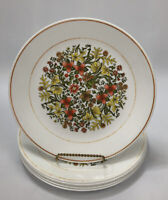 """Set of 6 Corelle Corning INDIAN SUMMER Floral Dinner 10.25"""" Plates AA"""