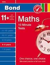 Bond 10 Minute Tests Maths 8-9 years by Lindsay, Sarah 1408502690 The Cheap Fast