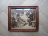 Antique print in frame - Toby Edward Rosenthal - American art - late 19th cent