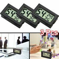 US 3Pcs Digital LCD Temperature Humidity Meter indoor Thermometer Hygrometer