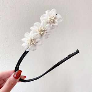 Floral Woman Hair Bun Maker Tools French Twist Ponytail Clips Hair Accessories
