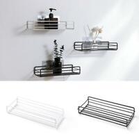 Househould Kitchen Bathroom Shower Shelf Storage Suction Basket Caddy Rack New