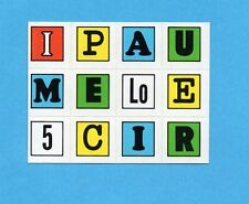 PANINI CALCIATORI 1972-73- Figurina LETTERE ADESIVE FUORI RACCOLTA Tipo 18 -NEW