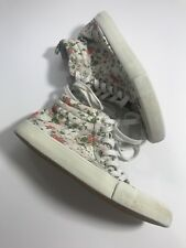 Old Navy Girls Youth Size 3 Multicolor Floral Sneakers Shoes Lace Up Hightop