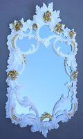 Wandspiegel  Weiß Gold Antik rokoko 60X35 Deko Barock Spiegel  c511 Flurspiegel