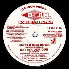"""ROBBIE VALENTINE-batter dem down   10""""   blakamix   (hear)   UK roots reggae"""