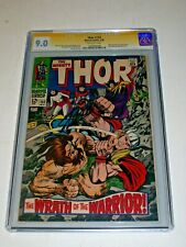 Thor #152 CGC 9.0 Off-White Marvel 1968 Stan Lee Signature Series Ulik