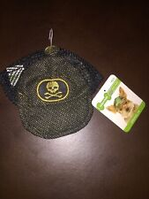 Brand New Wag-a-tude Black & Gold Skull Dog Hat Size XS/S