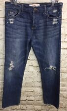 Hollister Jeans Women's Girls Juniors Button Fly Destroyed Size 5 R  7 W 27