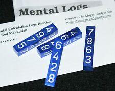 Mental Calculation Logs --anodized aluminum --super close-up mental magic  TMGS