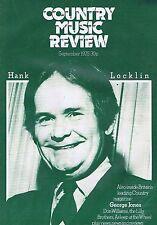 HANK LOCKLIN / GEORGE JONES / DON WILLIAMSCountry Music ReviewSep1975