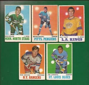 1970-71  OPC  Lot of 5 w/ # 94  BRYAN HEXTALL   Pittsburgh Penguins   med-lo gr.