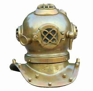 Mini Diving Helmet Antique 7 Inch U.S NAVY Mark IV Nautical Divers Helmet Gifted