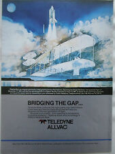 1984 PUB TELEDYNE ALLVAC SPACE SHUTTLE WRIGHT PAUL SALMON ILLUSTRATOR AD