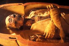 Stampa incorniciata-EGIZIANO resti mummificati di Ramses II (foto Sarcofago)