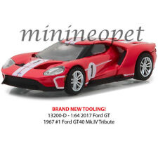 GREENLIGHT 13200 D HERITAGE RACING 2017 FORD GT 40 MK IV TRIBUTE #1 1/64 RED